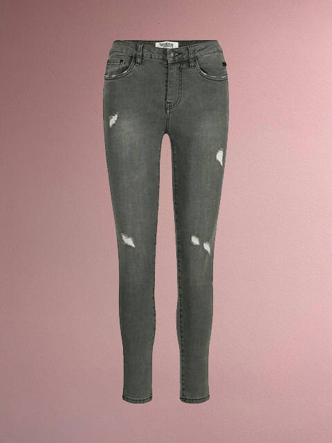 JEANS QH MID RISE GREY