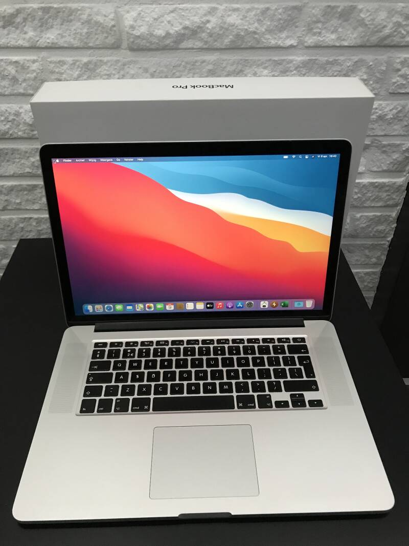 Apple macbook pro 15 inch retina core i7  16GB 512GB SSD GB refurbished ✔2014 Conditie ⭐⭐⭐⭐⭐