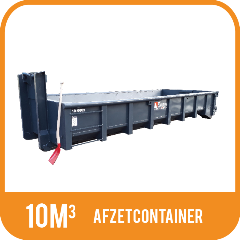 Afzetcontainer laag 10m³