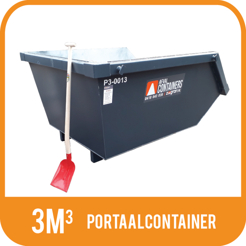 Portaalcontainer 3m³