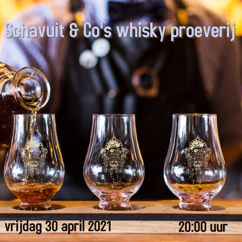 Whiskeyproeverij 30-04-2021