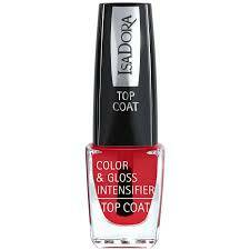 Color & gloss intensifier top coat 689 red tint