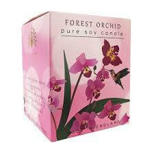 English soap candle forest orchid