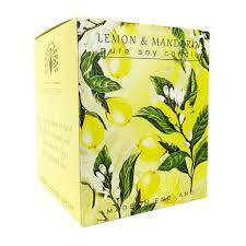 English soap candle lemon & mandarin