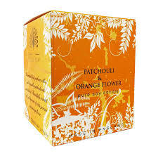 English soap candle patchouli & orange flower