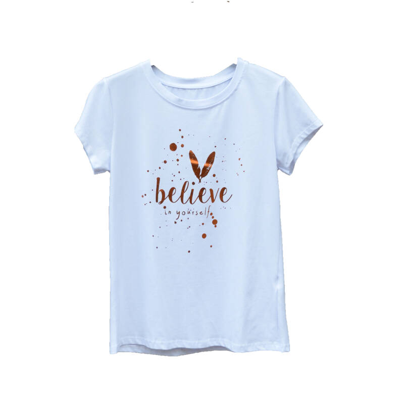 Tops & T-shirts - Believe in yourself Rosé Goud