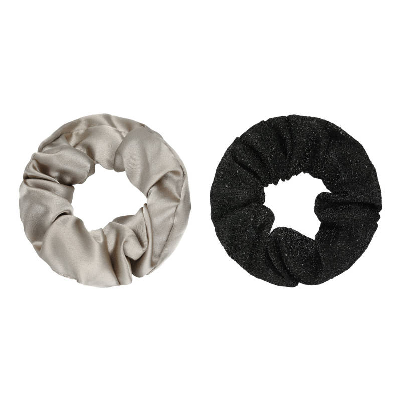 Haaraccessoires - Scrunchie Set of Two Zilver