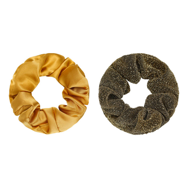 Haaraccessoires - Scrunchie Set of Two Goud