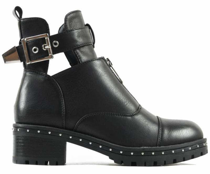 Schoenen - Cut out Biker Black