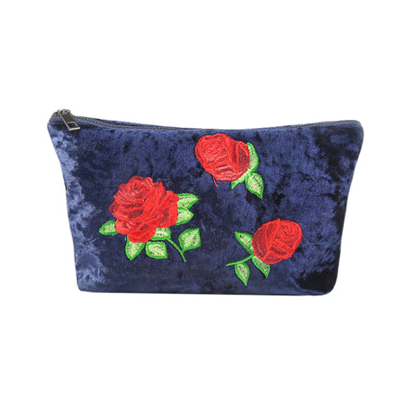 Tassen - Make-up Bag Velvet Rose Blauw