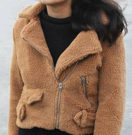Jassen - Teddy Coat Caramel