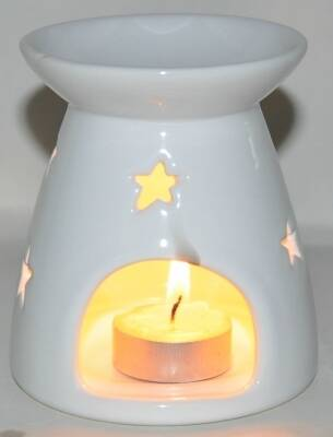Oil Burner Big Star White