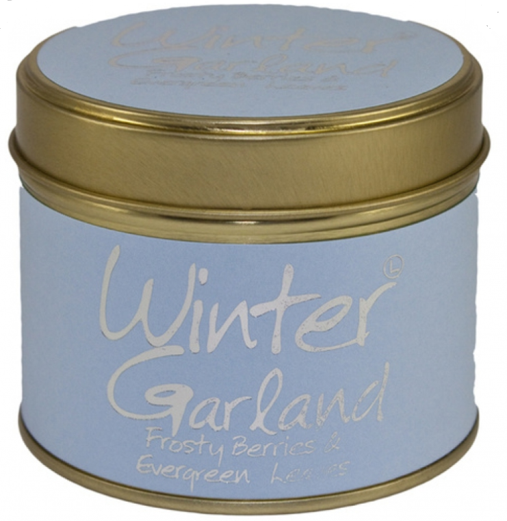 Winter Garland Tin - Frostie Berries & Evergreen Leaves