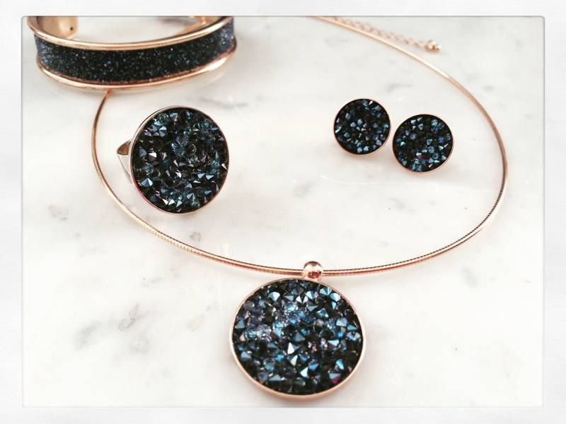 Set / Ensemble rose gold Swarovski-strass 2