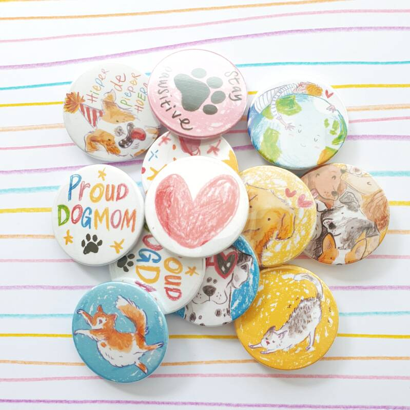 Button set van 4