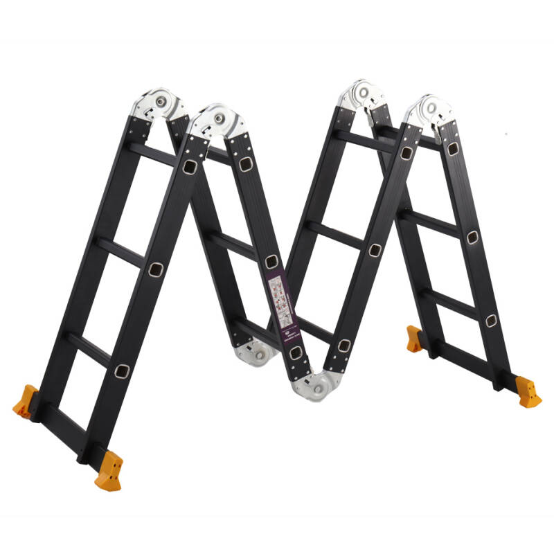 Multifunctioneel ladder,Vouwladder 4 x 3 368cm inlc.platform Black