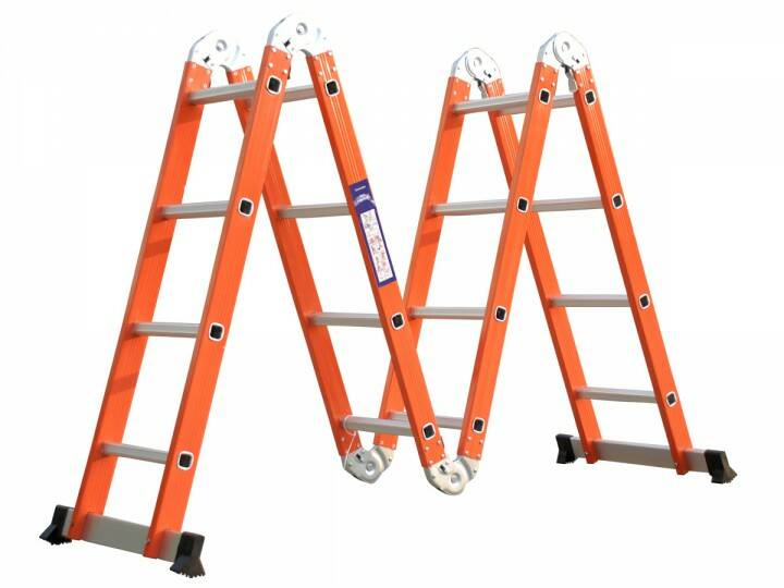 Multifunctioneel ladder 4x4 470cm oranje