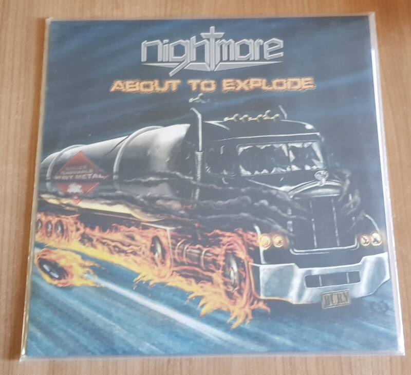 Nighmare - About To Explore , Blue Vinyl, limited to 100 copies, includes the same content, plus a patch.