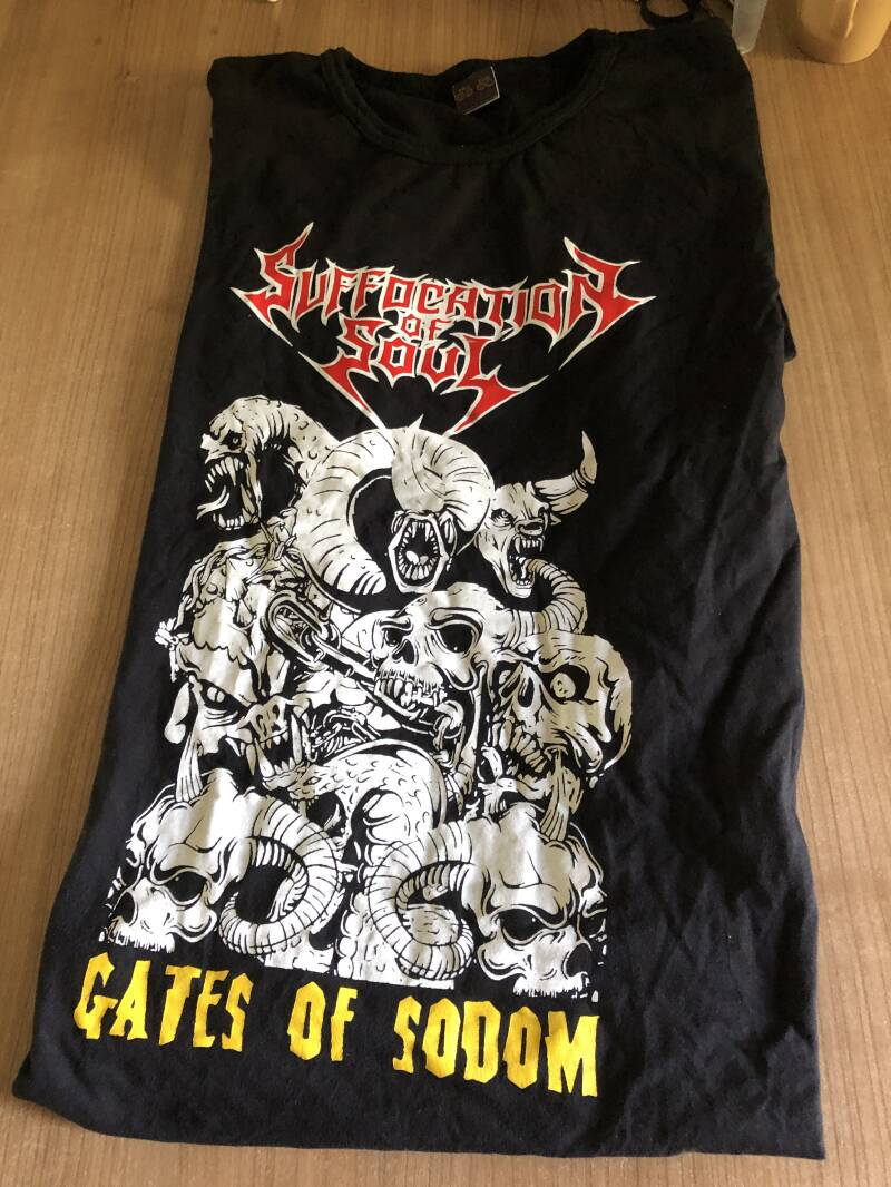 Suffocation of souls - Gates of sodom (black, both sides printed)