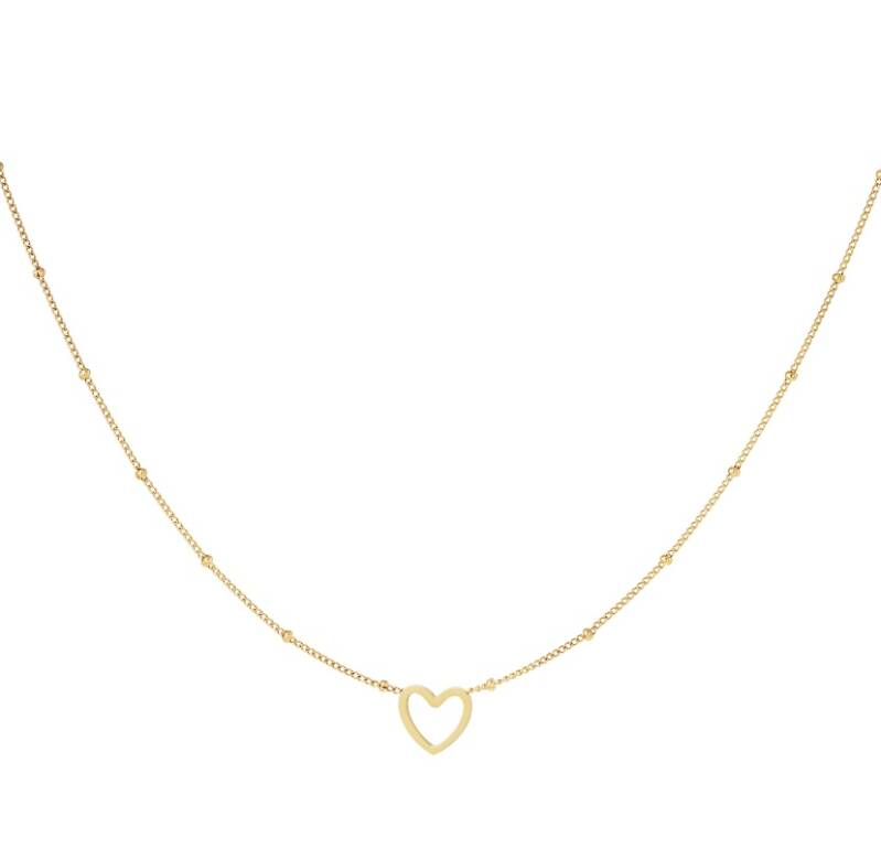 Minimalistic necklace open heart gold