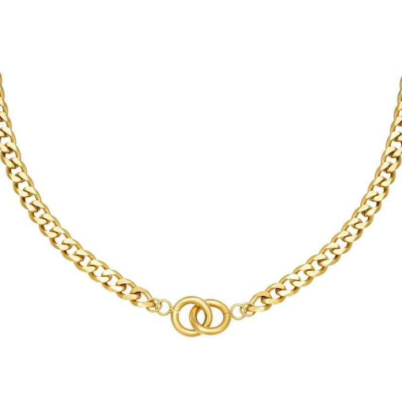Intertwined ketting goud