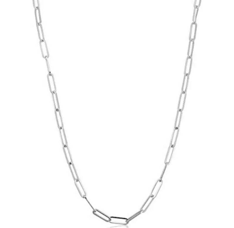 Thin chain necklace silver