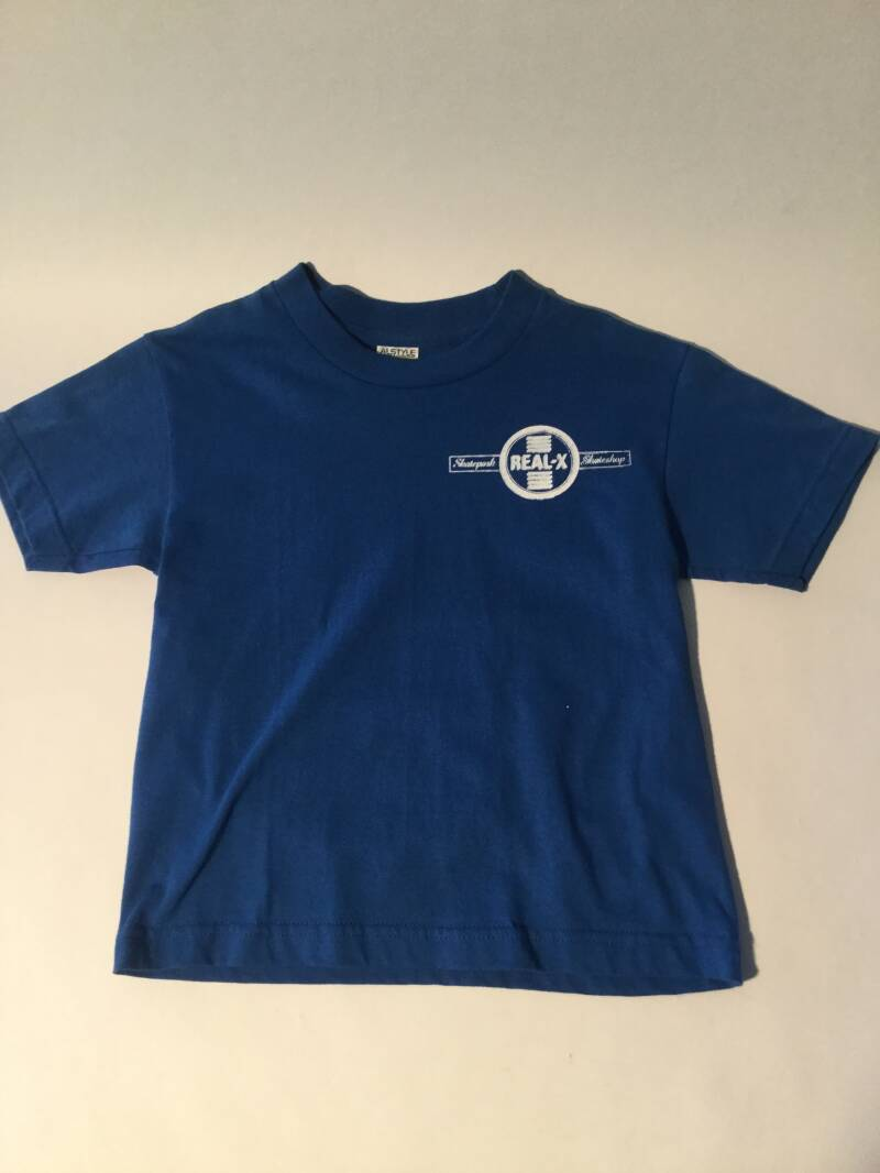 Shirt • Real-X • logo • small • blue • doubleprint