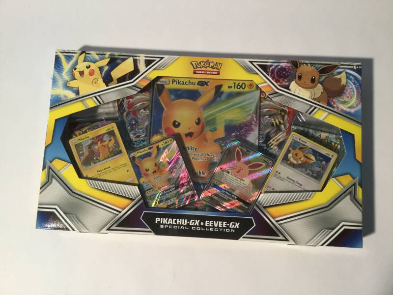 Pokemon • Pikachu-GX & Eevee-GX • box