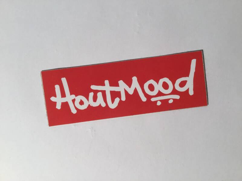 Sticker • Hout mood • 15cm