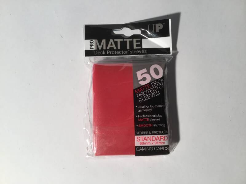Pokemon • Deck protector sleeves • 1 pack • 50 st • Matte Red