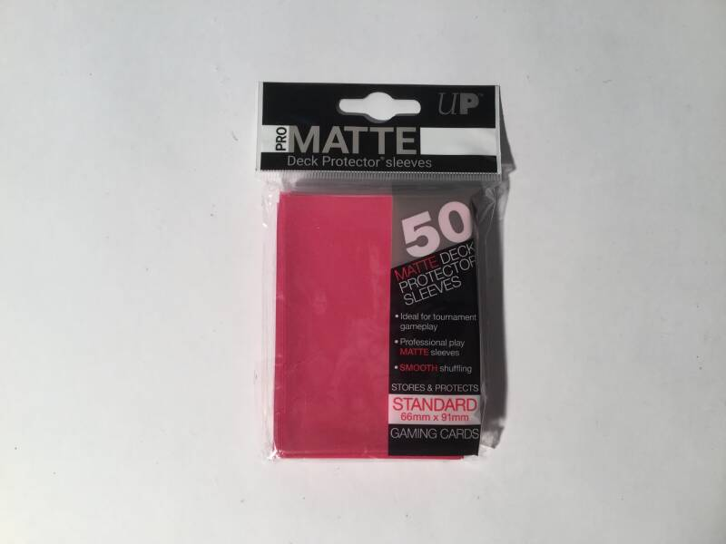 Pokemon • Deck protector sleeves • 1 pack • 50 st • Matte Solid Fuchsia