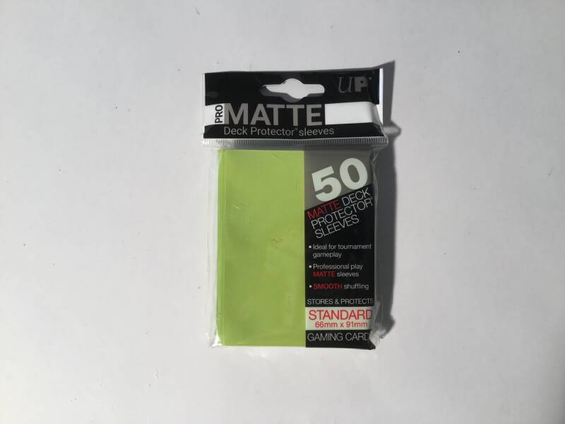 Pokemon • Deck protector sleeves • 1 pack • 50 st • Matte Bright Yellow