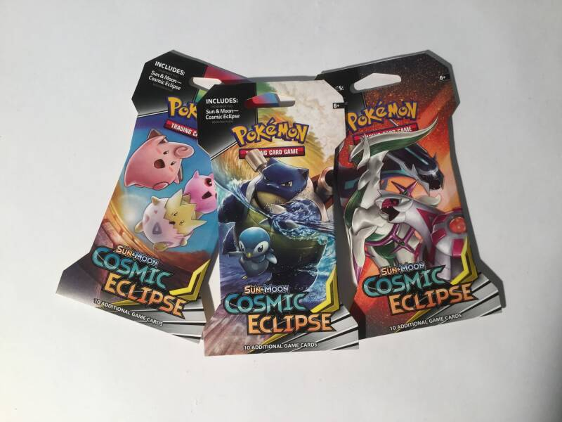 Pokemon • Booster Pack • Cosmic Eclipse • paper wrap