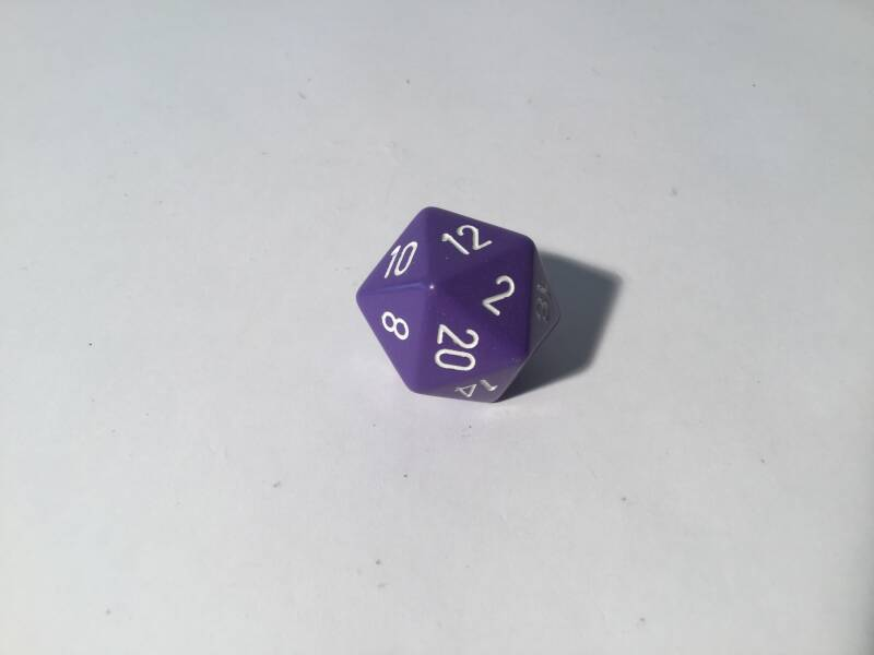 Gaming Dice • Dobbelsteen • Polyhedral 1 st • 4cm • purple