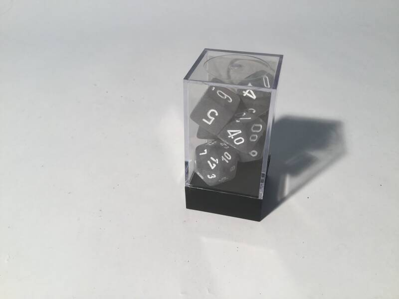 Gaming Dice • Dobbelsteentjes • Polyhedral 7 st • frosted