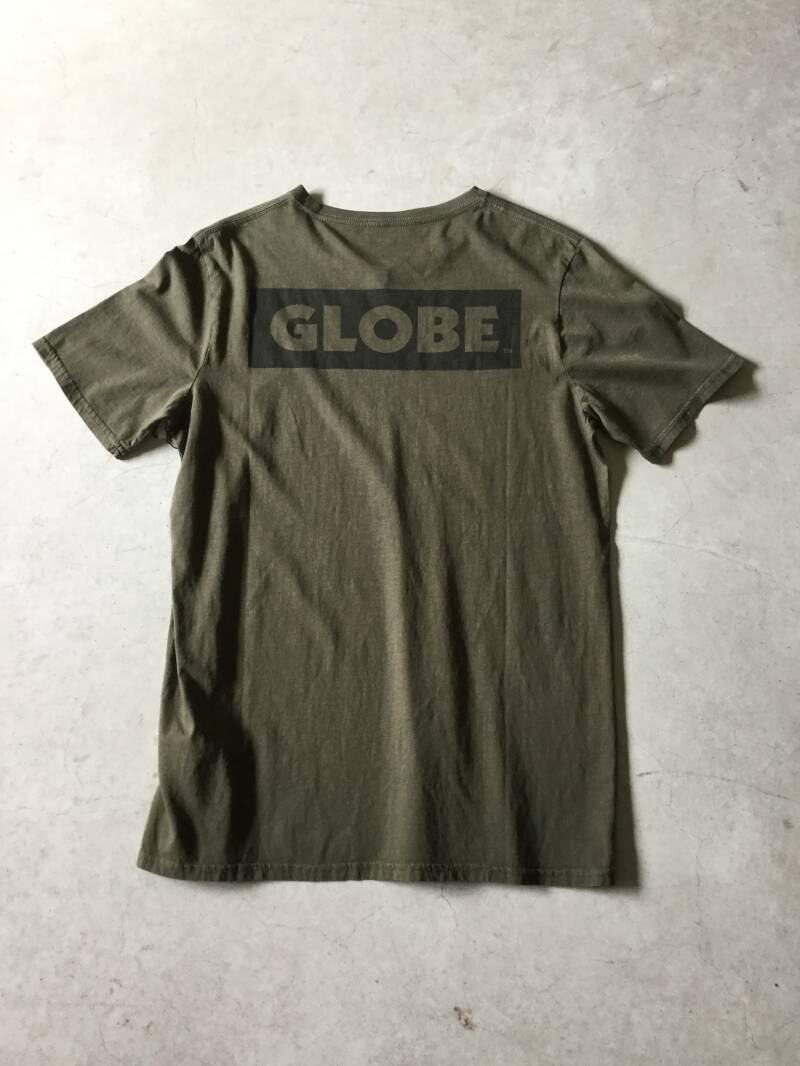 Shirt • Globe • medium • dark green • double printed