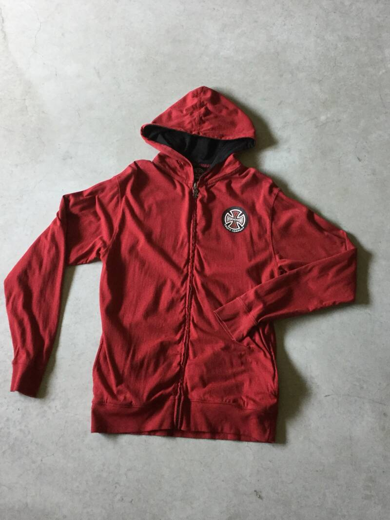 Hoodie • Zip shirt • Independent • large • red