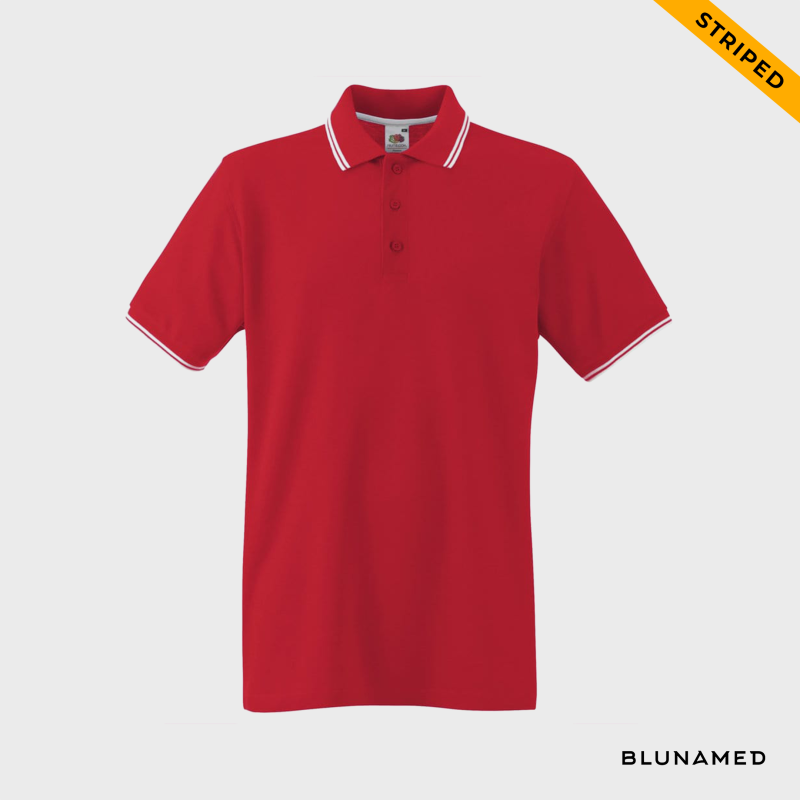 Polo striped (rood)