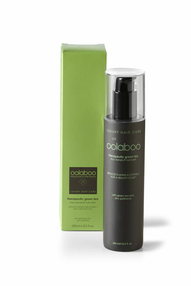 Oolaboo Therapeutic Green Tea Stop Dandruff Hair Bath