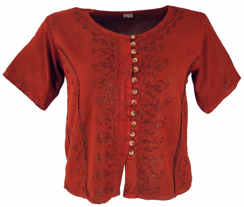 Hippie boho indian tuniek blouse rood