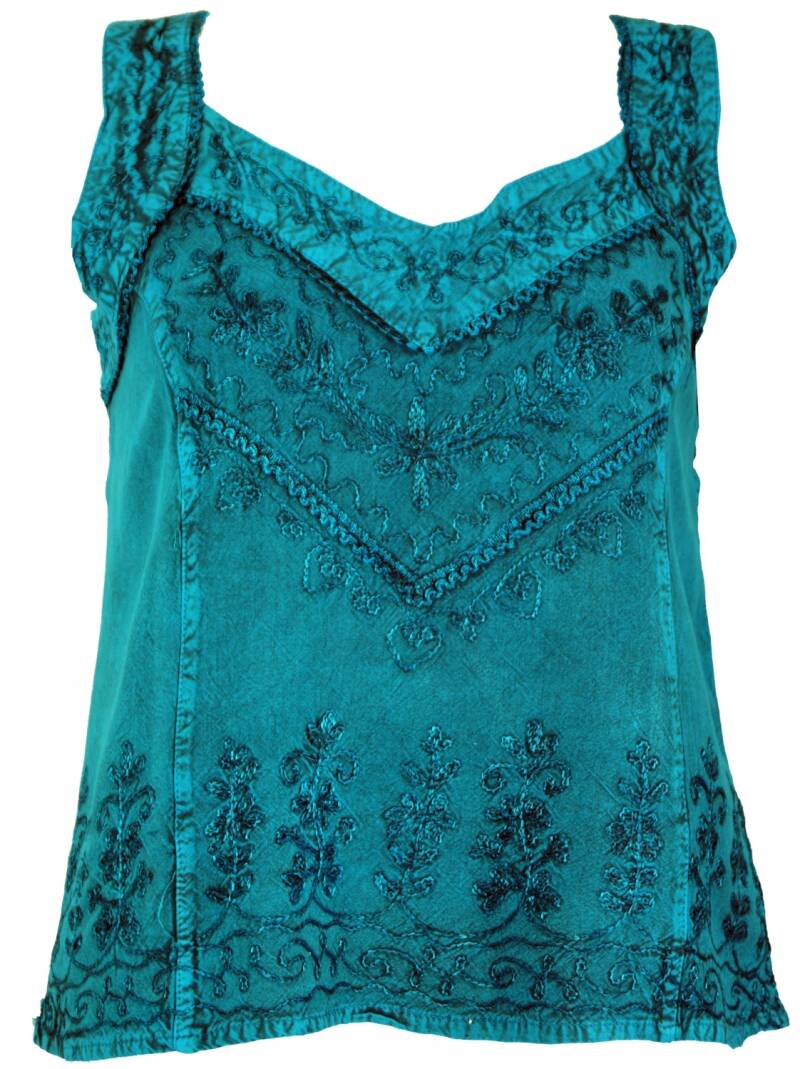 Boho hippie indian top petrol maat 36-38