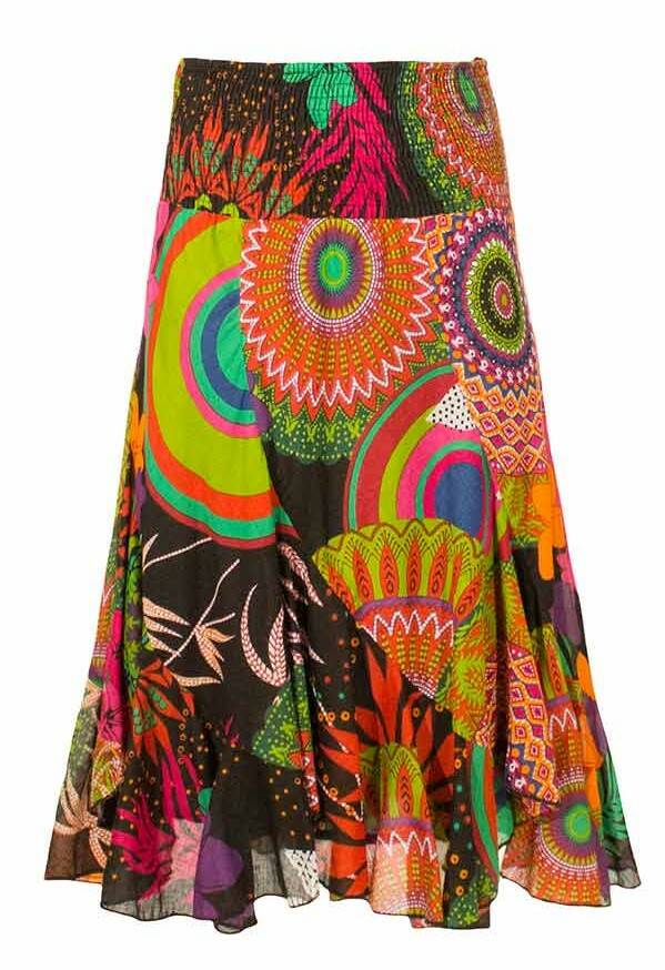 Gipsy hippie rok color