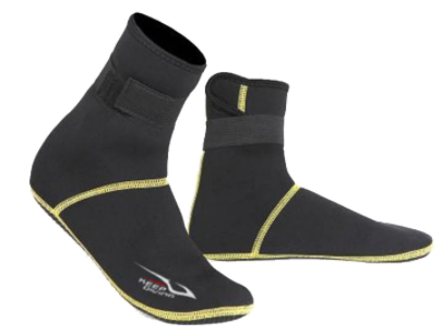 Sandsocks uniseks model 3 zwart/geel