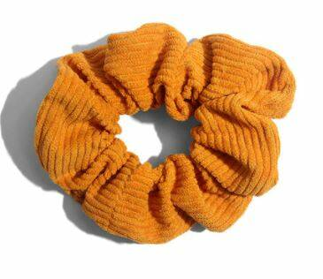 Corduroy Scrunchie Ocher Yellow 12cm