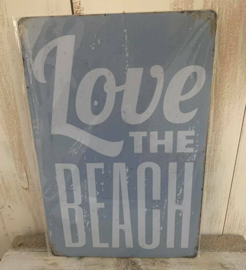 "Bord ""Love the Beach"""