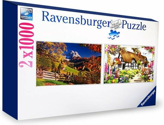 Legpuzzel Ravensburger: 2 in 1 Monte Pelmo & Country Cottage