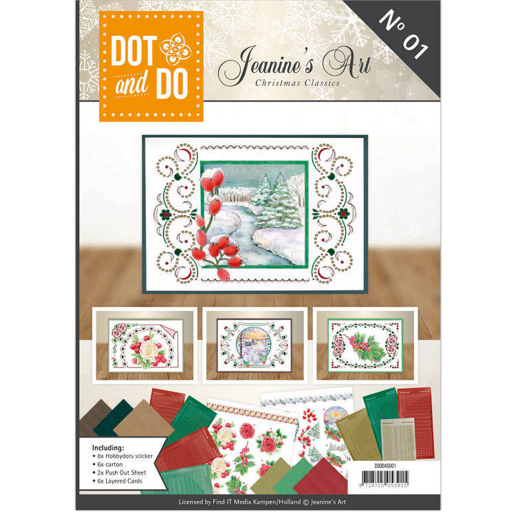DODOA6001 Dot & Do boek 1 Christmas Classics - Jeanine's Art