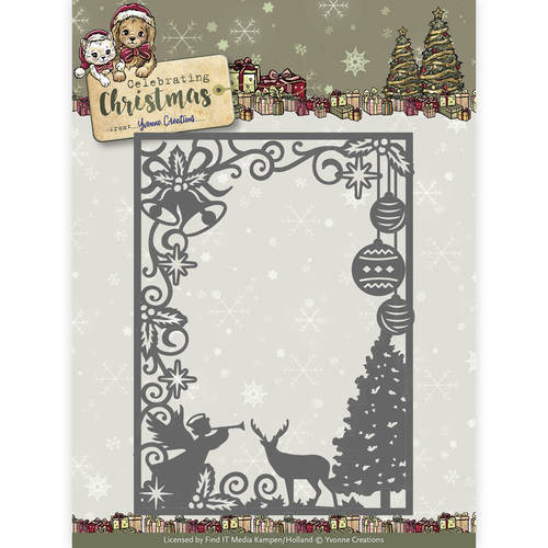 YCD10114 Scene rectangle frame christmas