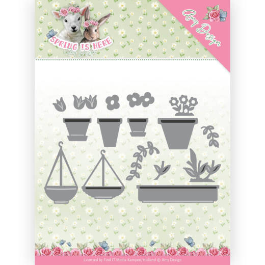 ADD10169 Flowerpots - Spring is here