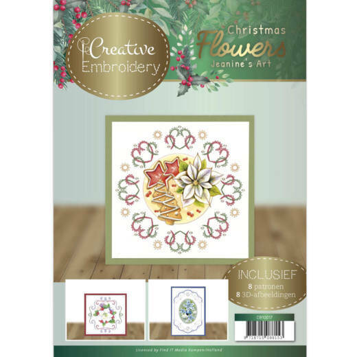 CB10017 Jeanines Art Christmas Flowers